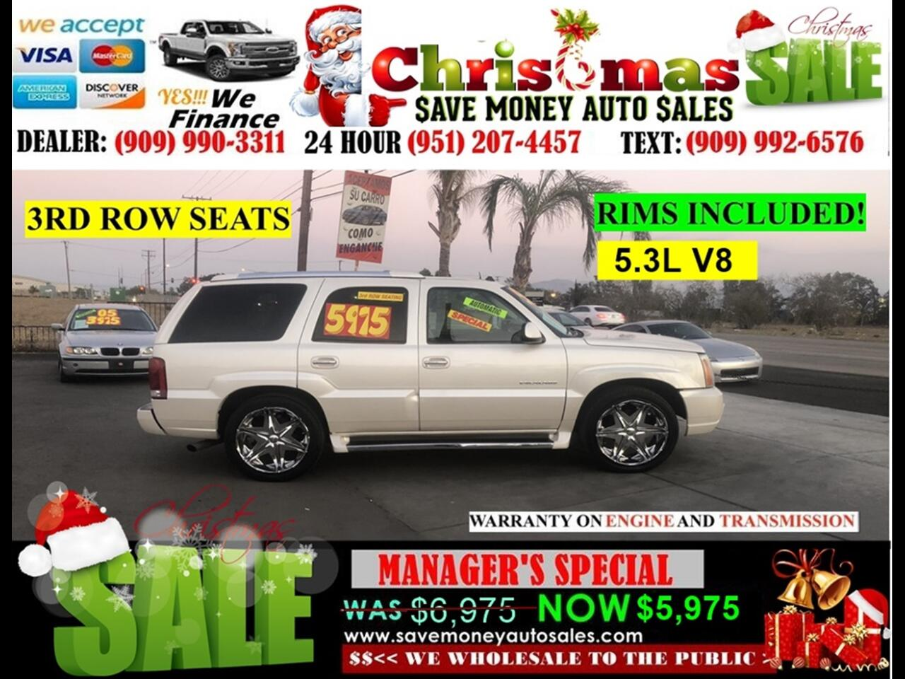 2003 Cadillac Escalade 2WD > 5.3L V8 > SCREEN ON SEAT, 3RD ROW SEAT >
