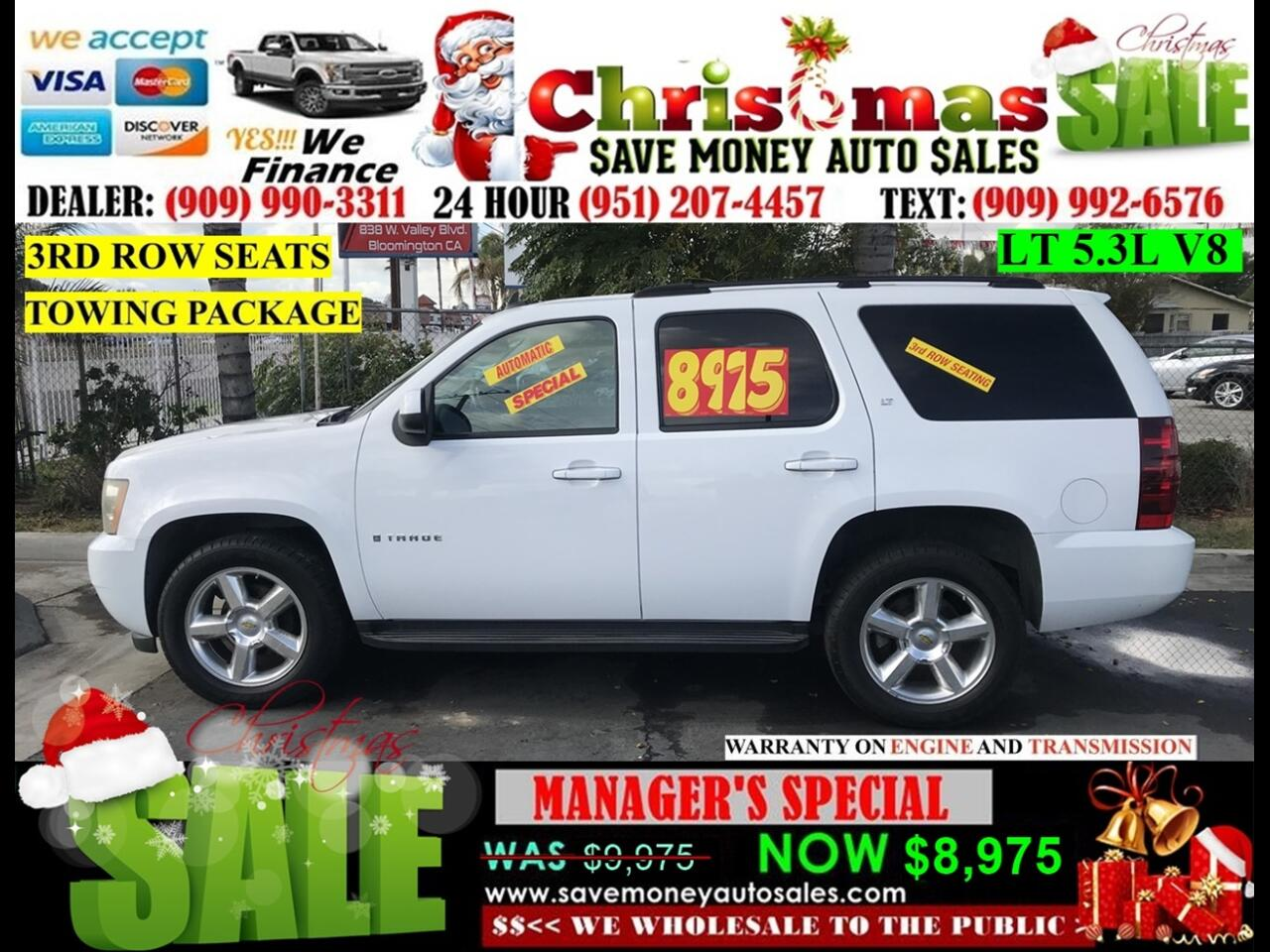 2007 Chevrolet Tahoe LTZ 2WD>>>WITH 3RD ROW PLUS FULLY LOADED>>>