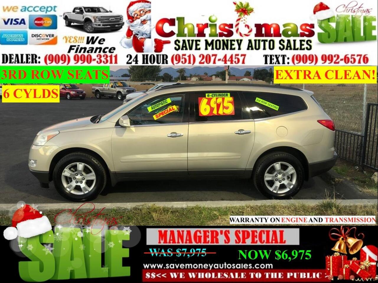 2011 Chevrolet Traverse LT FWD > 3RD ROW SEAT > MOON ROOF