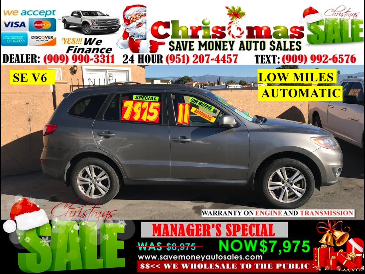 2011 Hyundai Santa Fe SE 3.5 FWD > LOW MILES