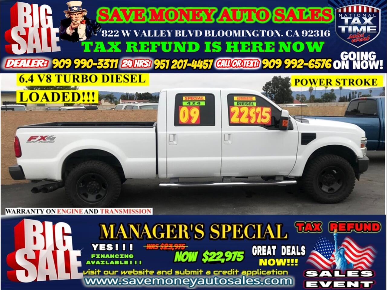 2009 Ford F-250 HD Crew Cab FX4>>TURBO DIESEL>ALL LOADED PLUS TOW PACKAGE!!!