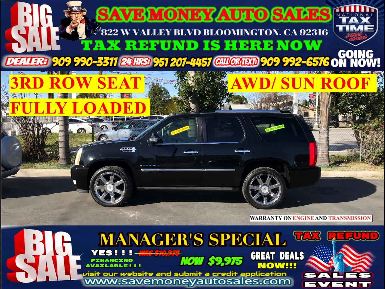 2007 Cadillac Escalade AWD>3RD ROW SEAT+TOTALLY LOADED>WE MEANT IT!!!!