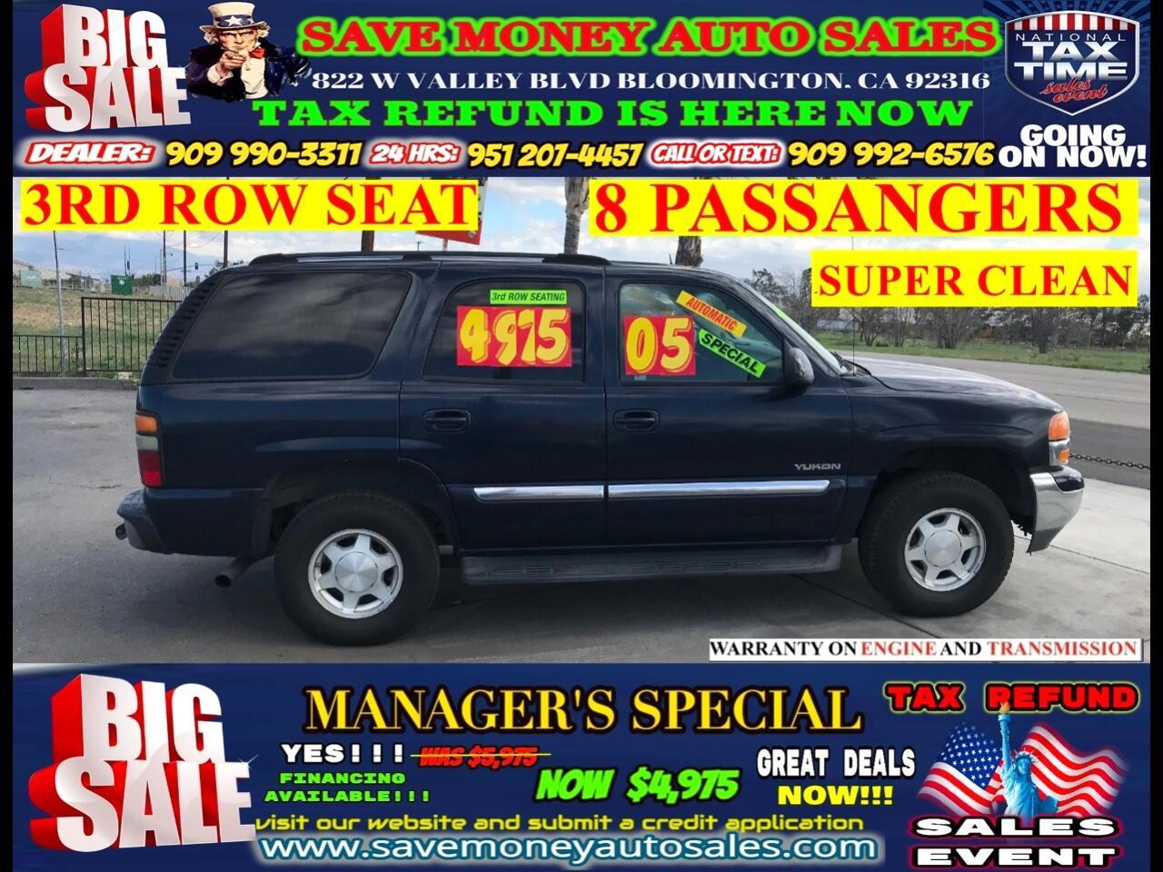 2005 GMC Yukon 2WD > 3RD ROW SEAT > 8 PASSANGER > NEW YEAR SPECIA