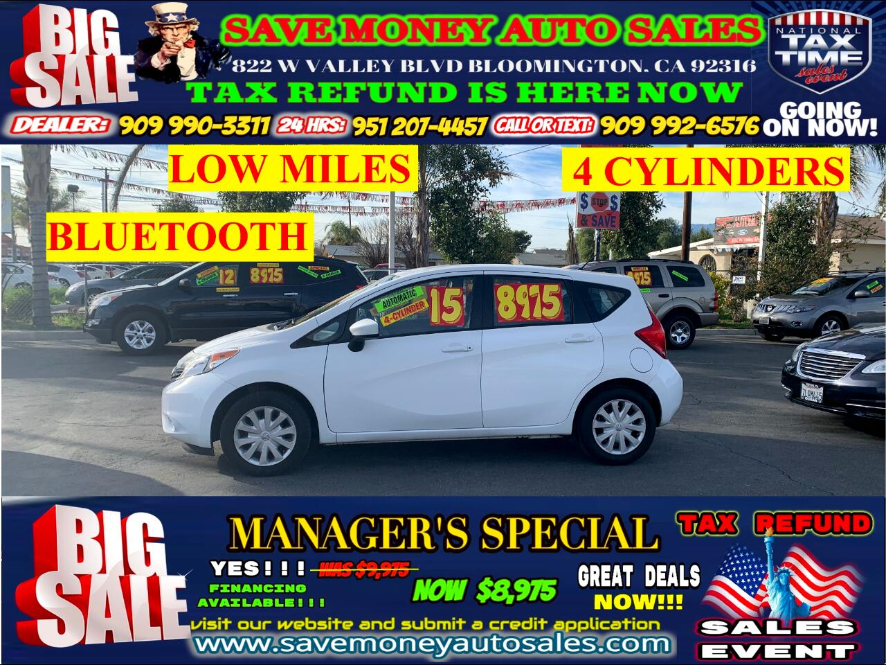 2015 Nissan Versa Note SV > LOW MILES > EXTRA CLEAN > 4 CYLINDER!!!