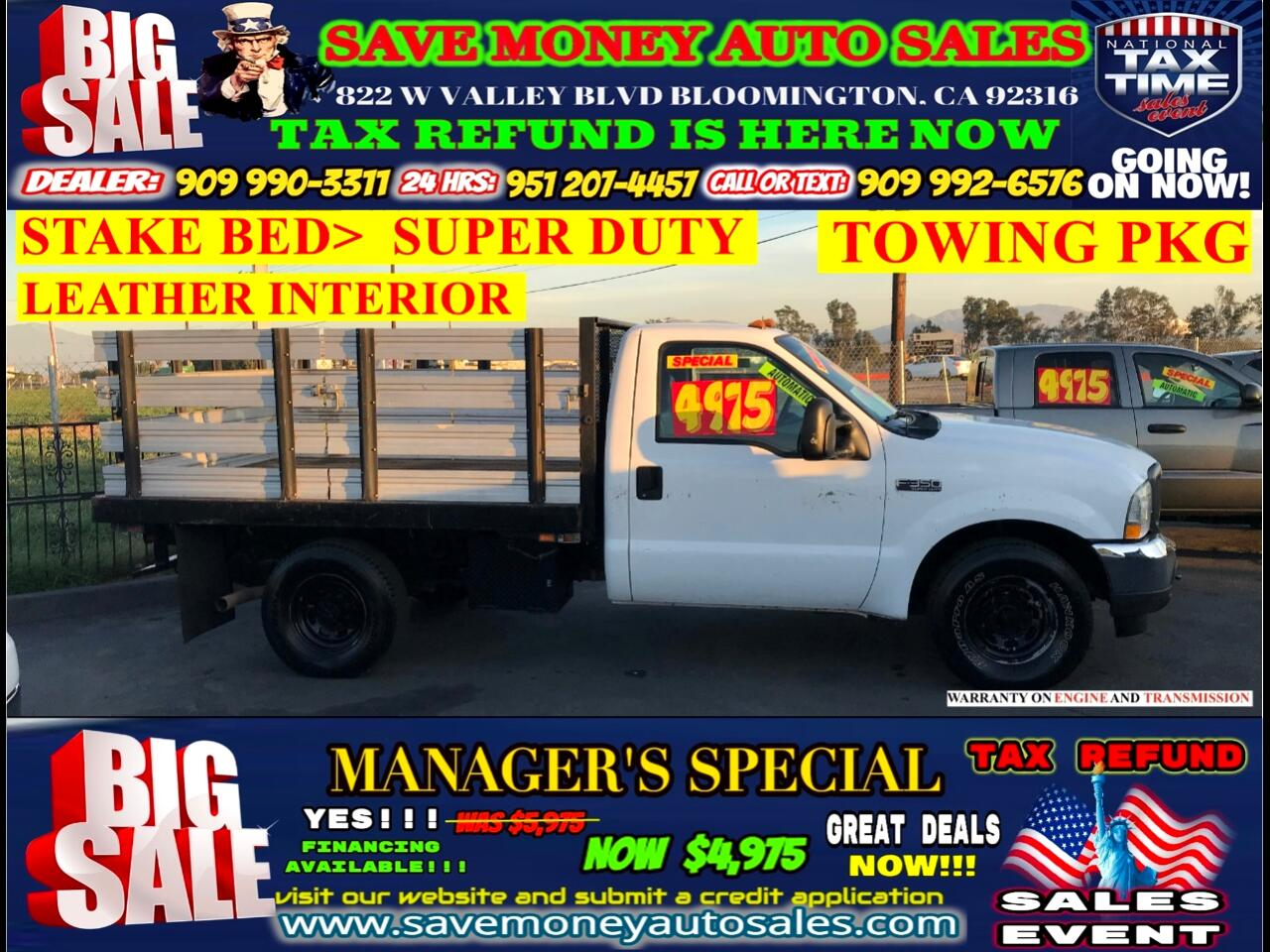 2004 Ford F-350 SD XLT SUPER DUTY> STAKE BED> FULLY LOADED> LEATHER S