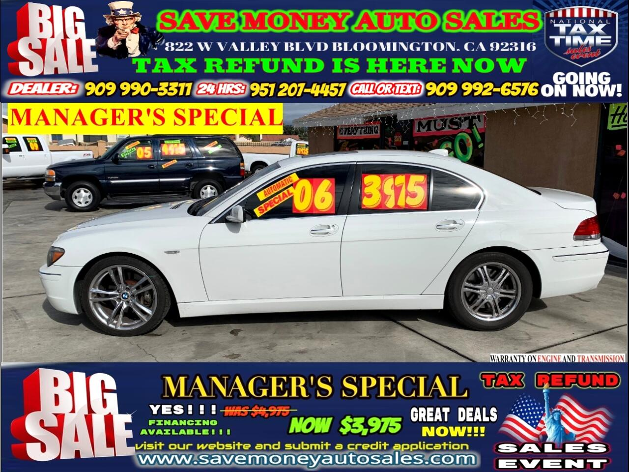 2006 BMW 7-Series 750i >>NAVIGATION + RIMS INCLUDED=MANAGER'S SPECIA