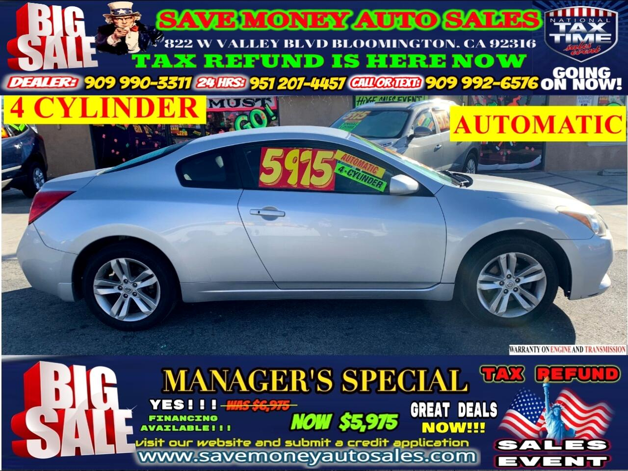 2011 Nissan Altima 2011 NISSAN ALTIMA COUPE>>4 CYLINDERS>>AUTOMATIC!!