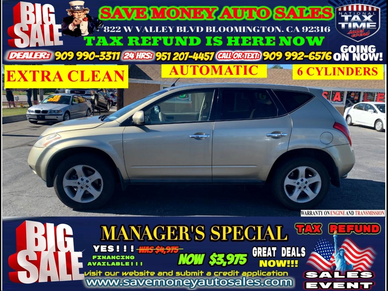 2005 Nissan Murano 2005 NISSAN MURANO>>EXTRA CLEAN>>6 CYLINDER>>>AUTO