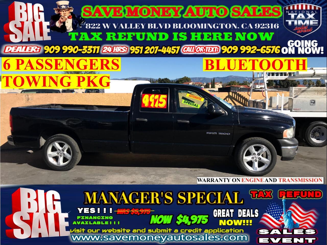 2004 Dodge Ram 1500 SLT QUAD CAB>TOW PACKAGE,6 PASSRNGERS+BLUETOOTH>>