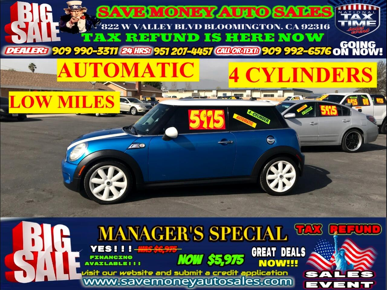 2007 MINI Cooper S TYPE>>FULLY LOADED+4CYLDS+LOW MILES!!!!