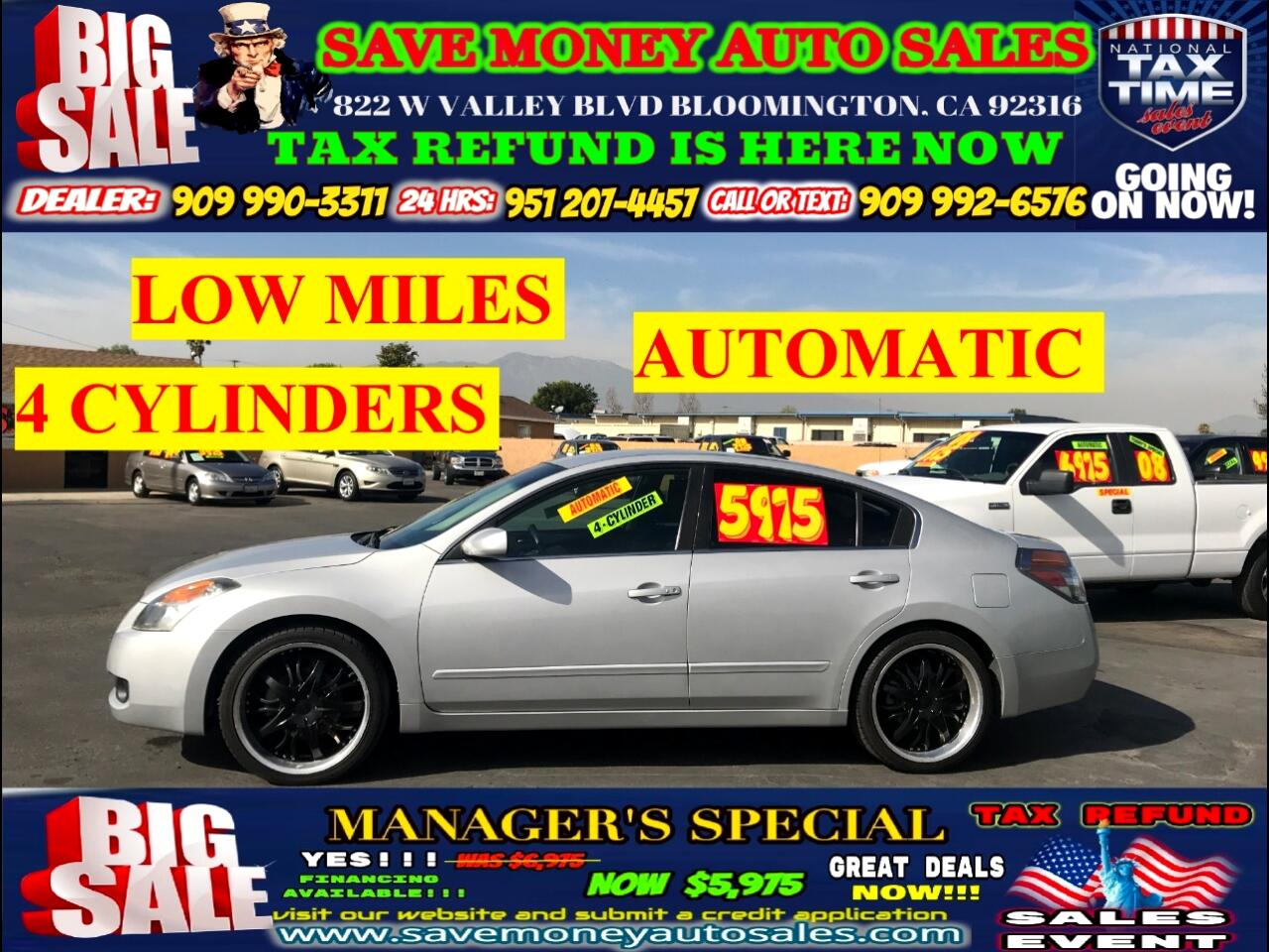 2007 Nissan Altima 2.5 S TYPE>>>4 CYLINDERS,BLUETOOTH+AUTOMATIC!!!