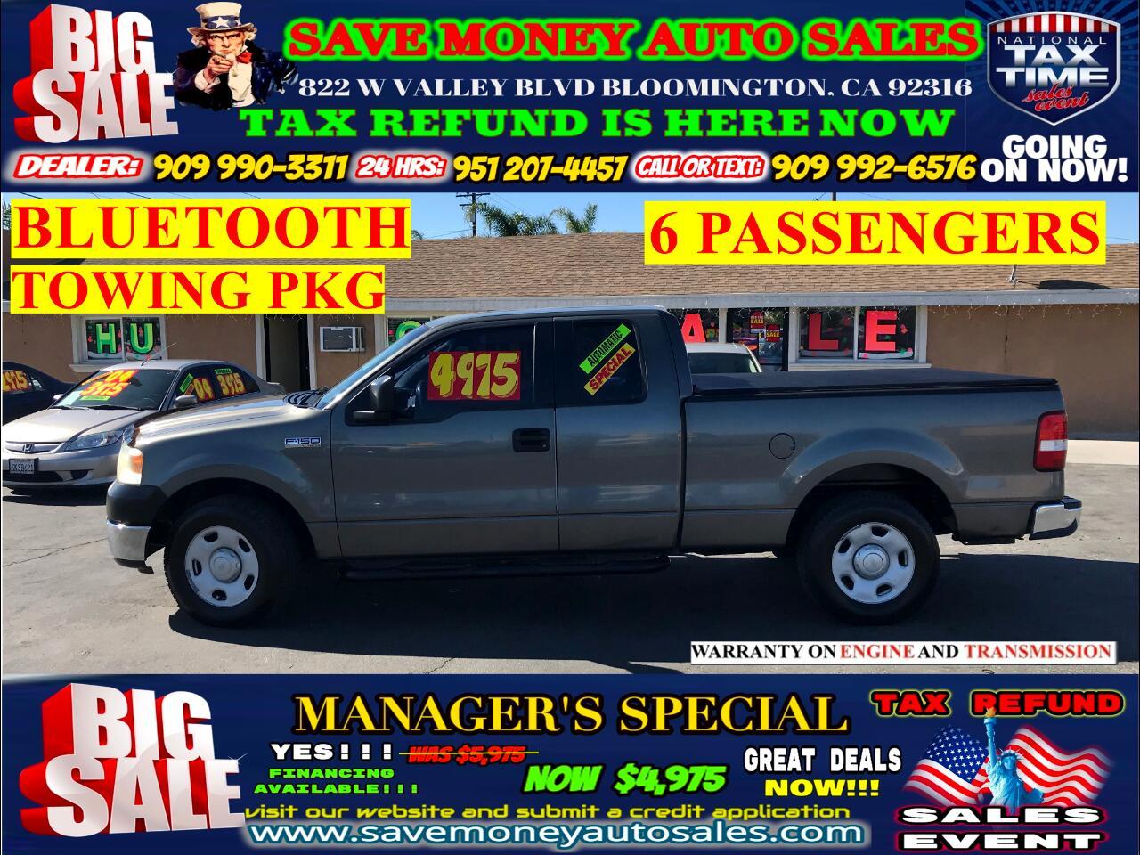 2005 Ford F-150 4.6 XL TRITON> 6 PASSENGERS> TOWING PKG> BLUETOOTH
