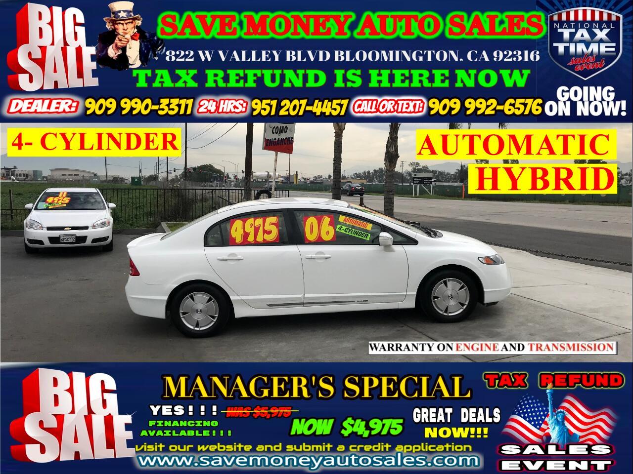 2006 Honda Civic Hybrid HYBRID> 4- CYLINDER> EXTRA CLEAN> FULLY LOADED>