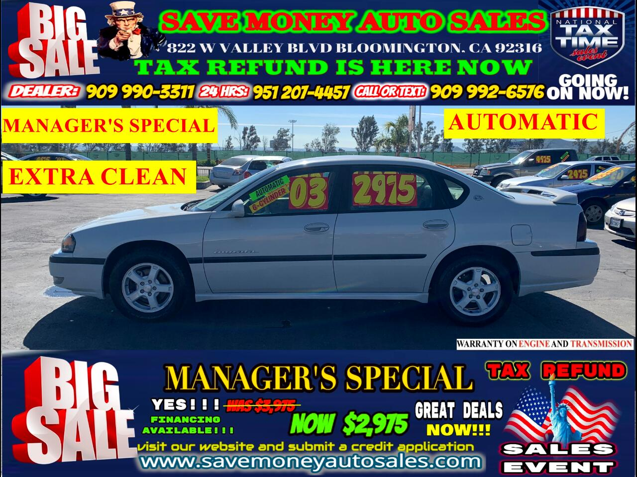 2003 Chevrolet Impala LS EDITION> 6-CYLINDER> EXTRA CLEAN>