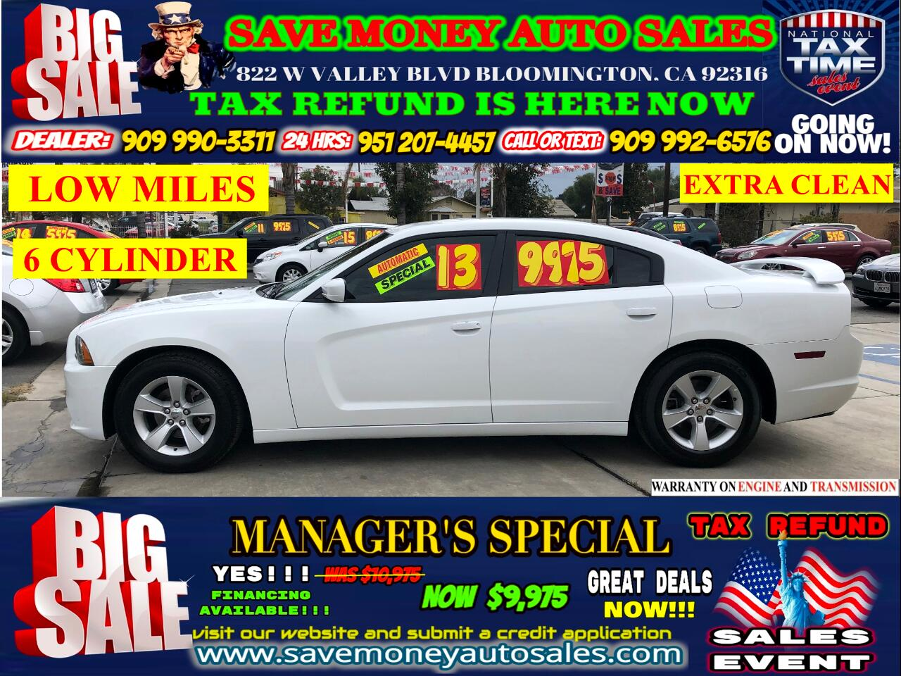 2013 Dodge Charger 2013 DODGE CHARGER>LOW MILES>V6>AUTOMATIC
