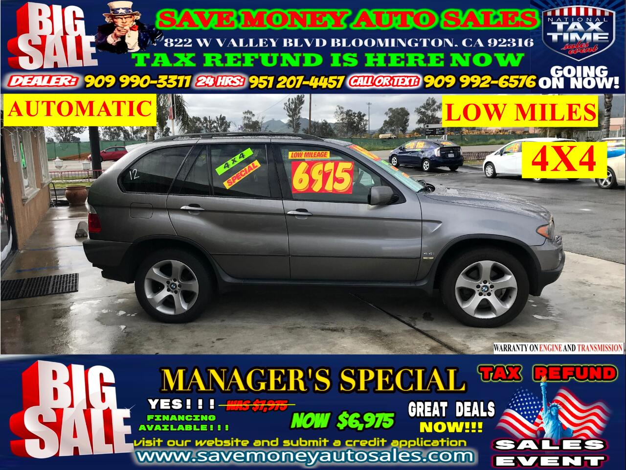 2006 BMW X5 2006 BMW X5>>LOW MILES>>4X4>>AUTOMATIC!!!