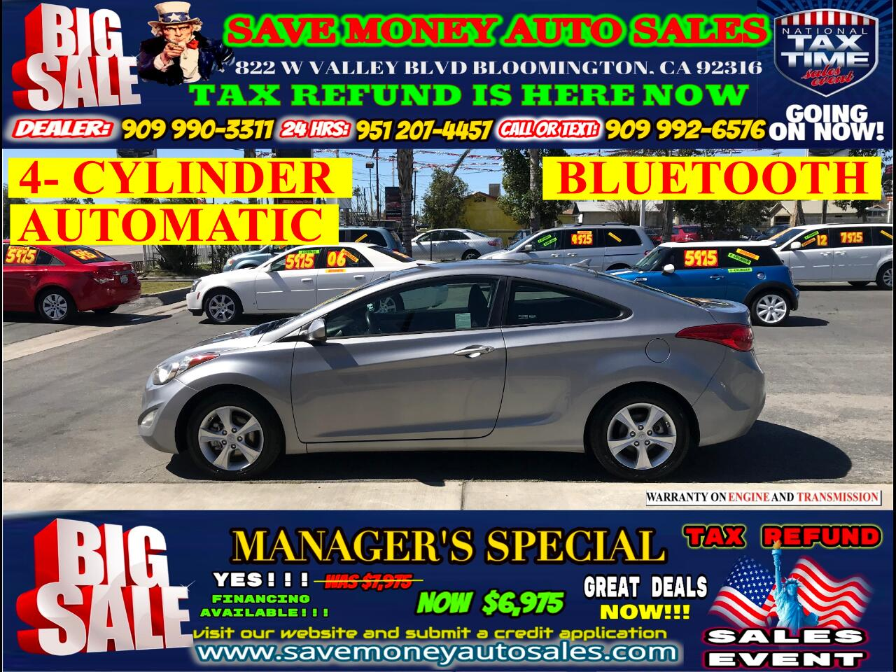 2013 Hyundai Elantra GS COUPE> AUTOMATIC> 4- CYLINDER>EXTRA CLEAN>