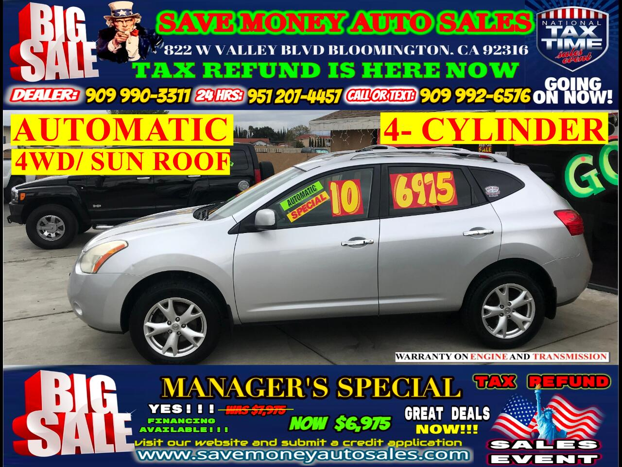 2010 Nissan Rogue SL AWD/ 4- CYLINDER> SUN ROOF> EXTRA CLEAN