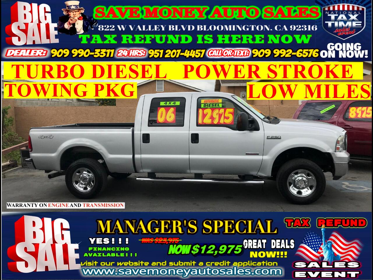 2006 Ford F-250 SD XLT>>POWERSTROKE DIESEL>4X4+CREW CAB>LOW MILES>TOW