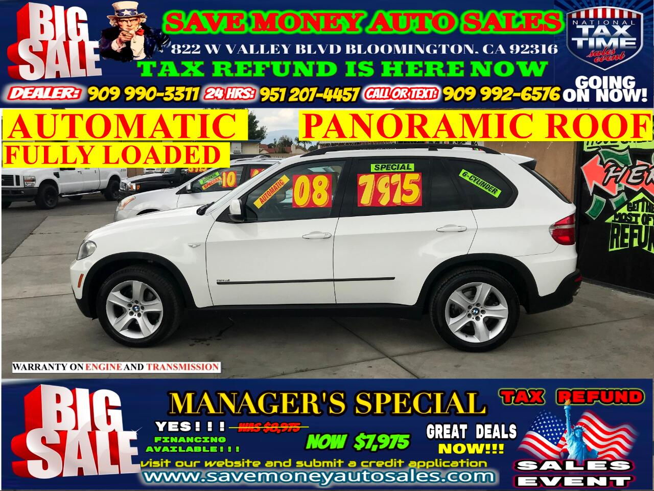 2008 BMW X5 3.0 SI>V6 BACK UP CAMERA>NAVIGATION>PANORAMIC ROOF