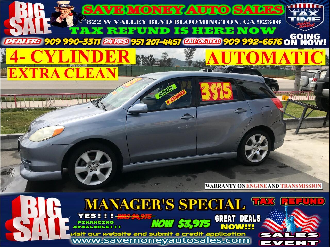 2003 Toyota Matrix XR> AUTOMATIC> BLUETOOTH> 4 CYLINDER