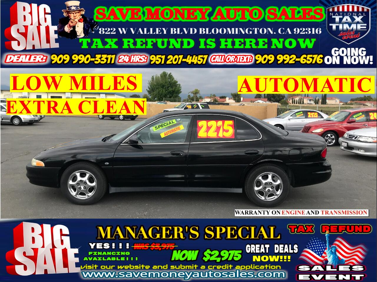 1999 Oldsmobile Intrigue GLS EDITION>>LEATHER SEATS>>LOW MILES!!!!