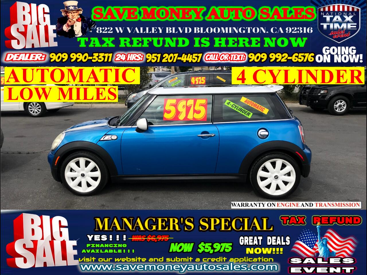 2007 MINI Cooper EDITION>S >>BLUETOOTH,PANORAMIC ROOF,LOW MILES!!!