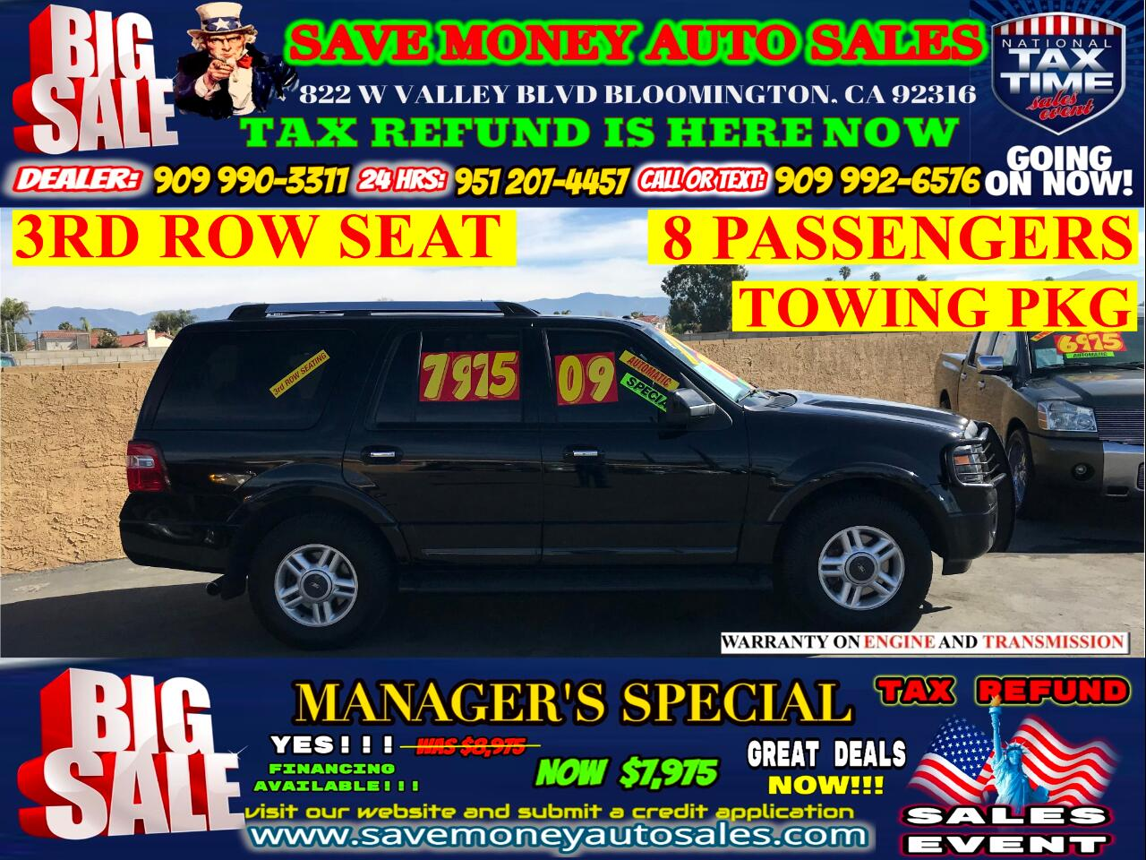 2009 Ford Expedition LIMITED EDITION>3RD ROW SEAT> TOWING PKG
