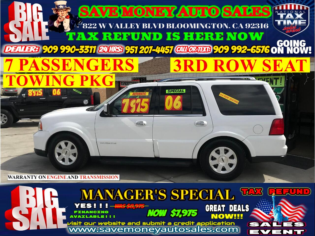 2006 Lincoln Navigator LUXURY>7 PASSENGERS>TOWING PKG> EXTRA CLEAN