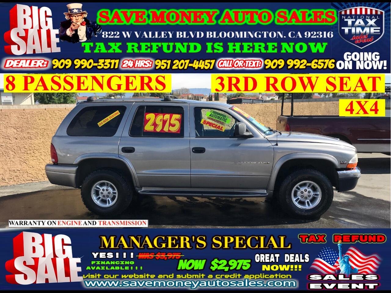 1999 Dodge Durango 4X4>8 PASSENGERS> EXTRA CLEAN>AUTOMATIC