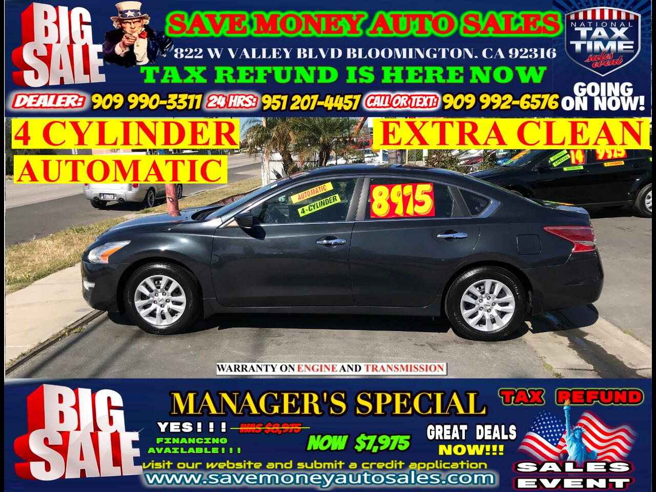 2013 Nissan Altima 2.5 S>4-CYLINDER>AUTOMATIC>FULLY LOADED