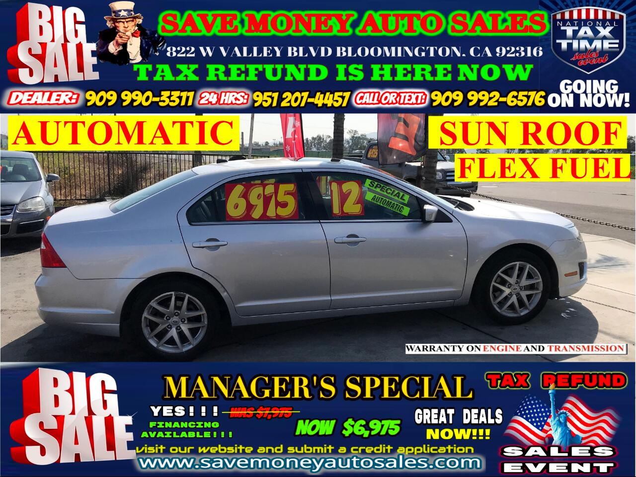2012 Ford Fusion SEL>LOW MILES> FULLY LOADED