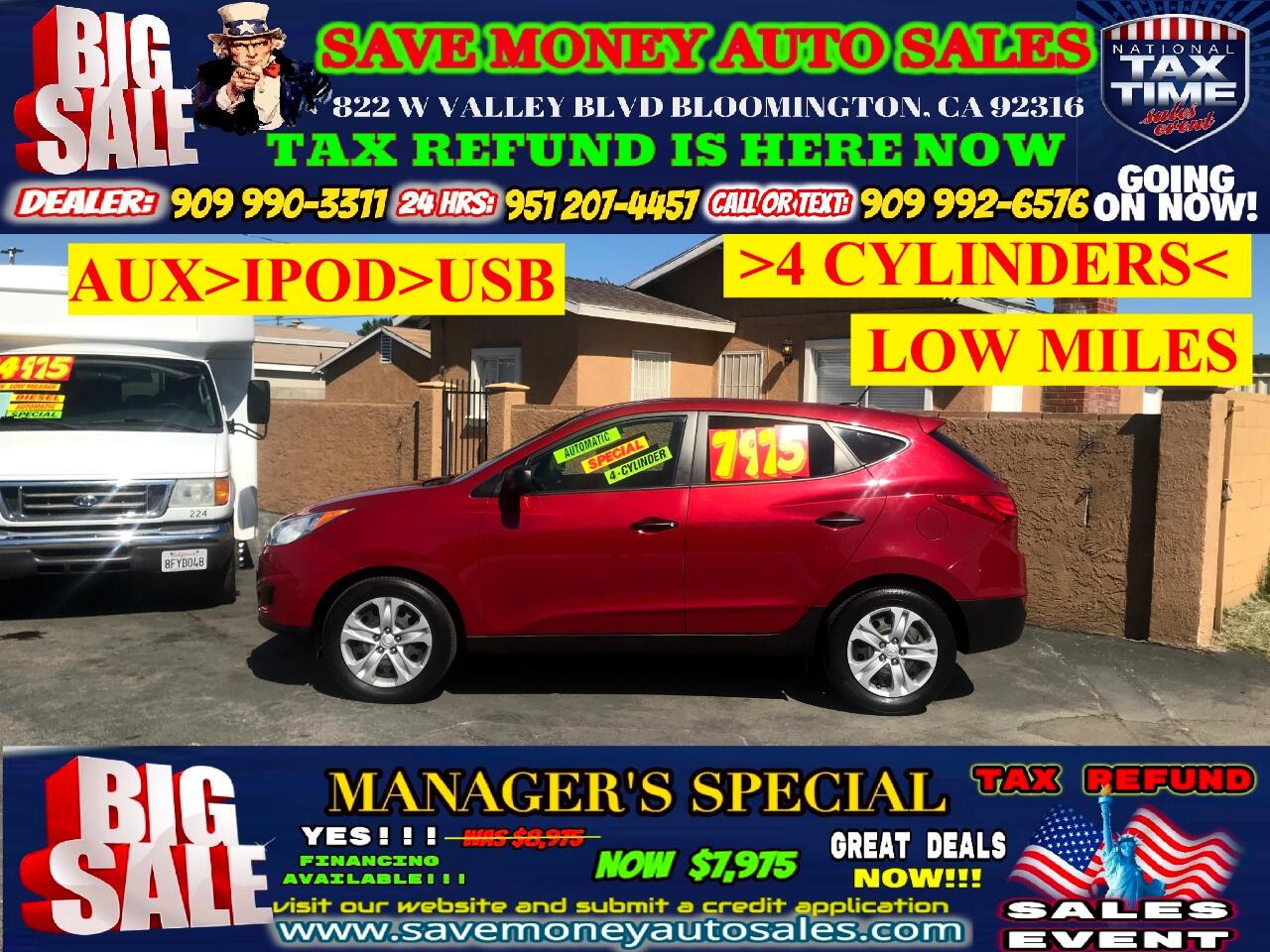 2010 Hyundai Tucson GLS EDITION>4 CYLINDERS,AUTOMATIC,EXTRA CLEAN!!!