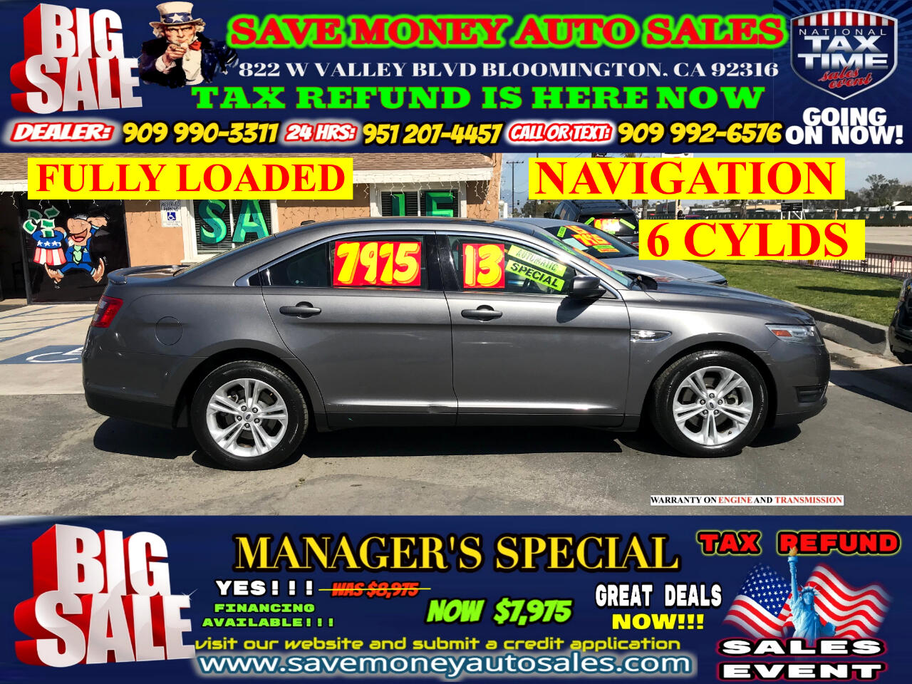 2013 Ford Taurus SEL FWD> LOW MILES> FULLY LOADED> NAVIGATION