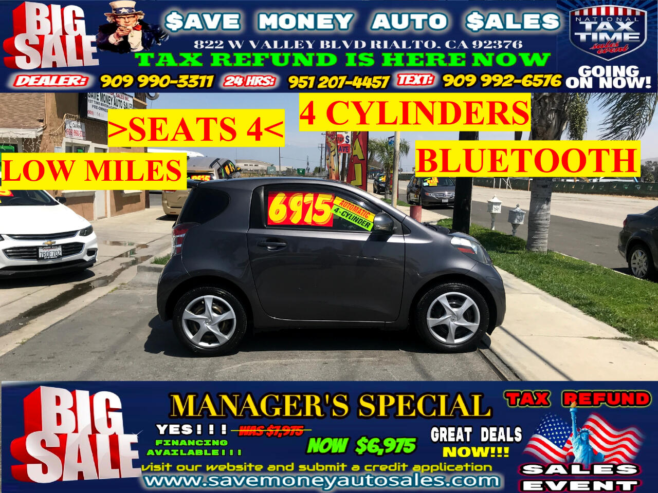 2012 Scion iQ SEATS 4>BLUETOOTH>LOW MILES>4 CYLDS AND MORE!!!!