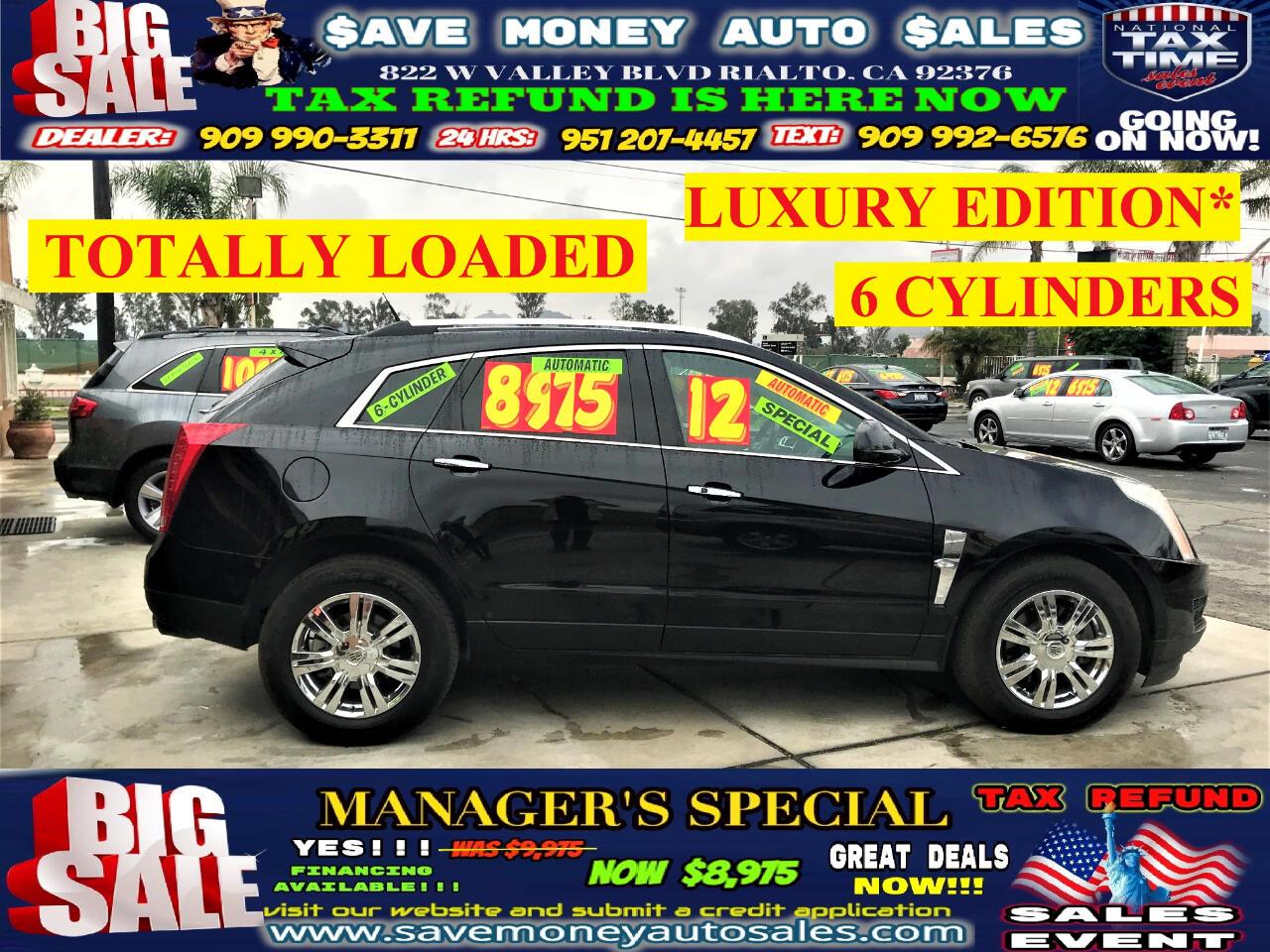 2012 Cadillac SRX LUXURY EDITION>BACK UP CAMERA>BLUETOOTH>6CYLDS