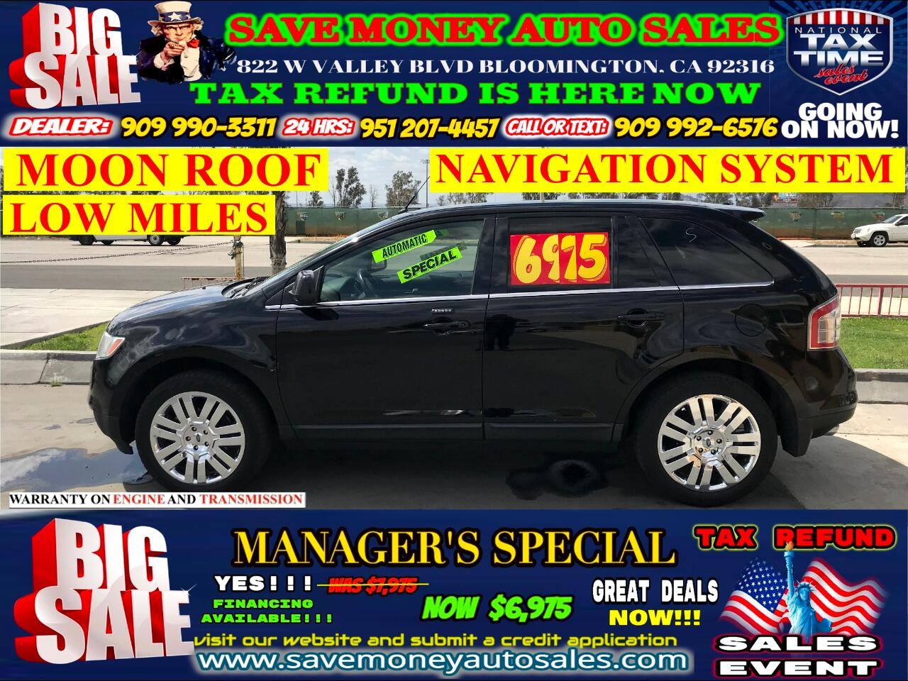 2008 Ford Edge LIMITED> LOW MILES> NAVIGATION> EXTRA CLEAN
