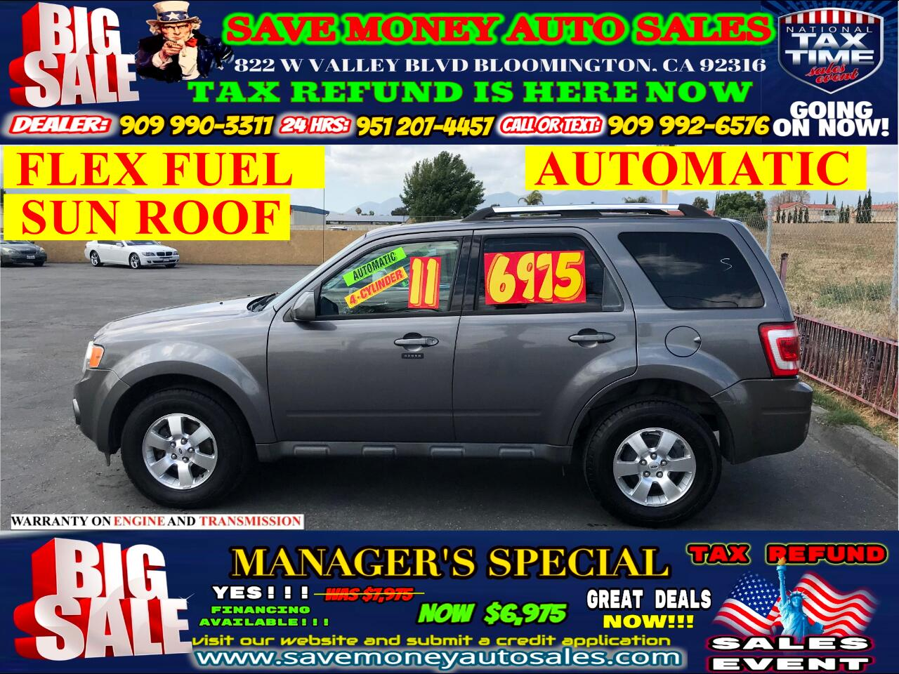 2011 Ford Escape LIMITED> V6> FLEX FUEL> SUN ROOF> AUTOMATIC