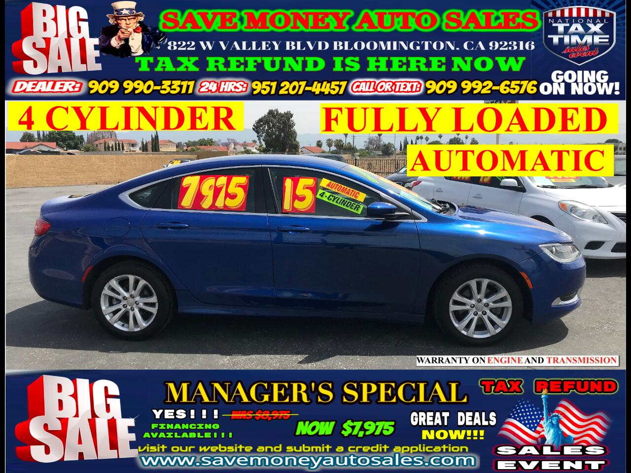 2015 Chrysler 200 LIMITED> 4-CYLINDER>FULLY LOADED>AUTOMATIC