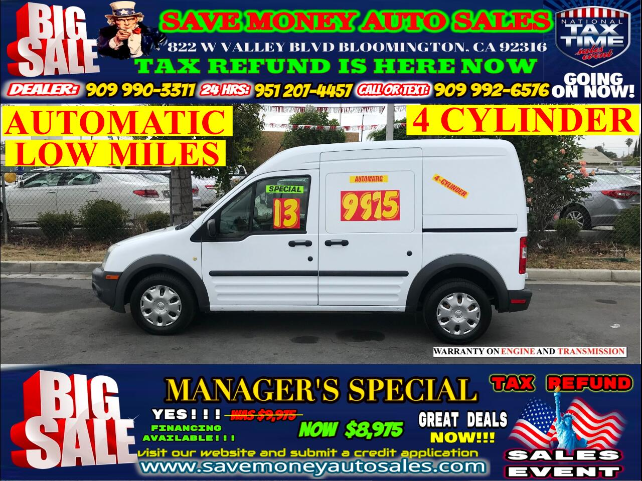 2013 Ford Transit Connect LOW MILES> 4 CYLINDER>AUTOMATIC>