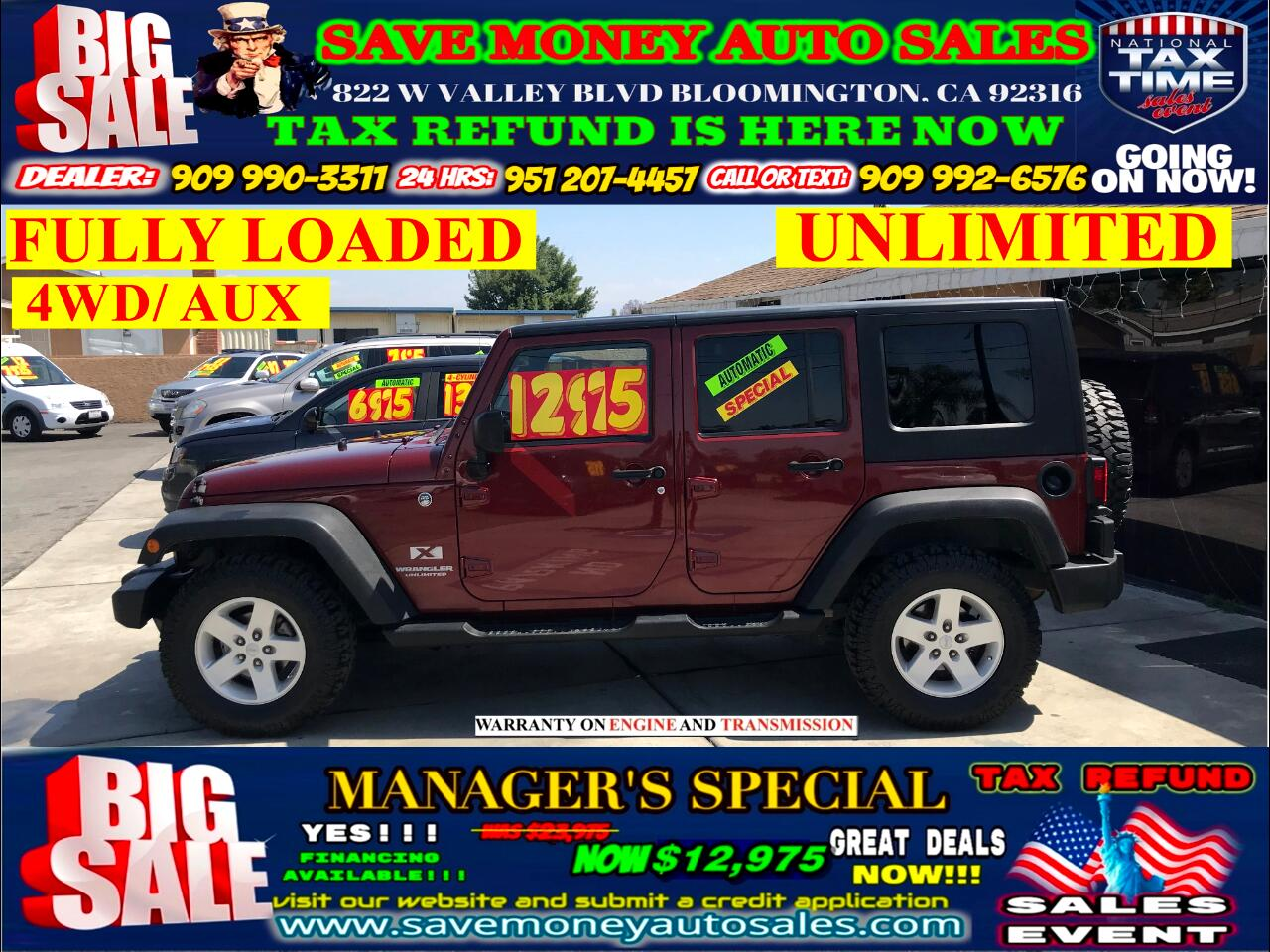 2008 Jeep Wrangler UNLIMITED 4WD> FULLY LOADED> EXTRA CLEAN