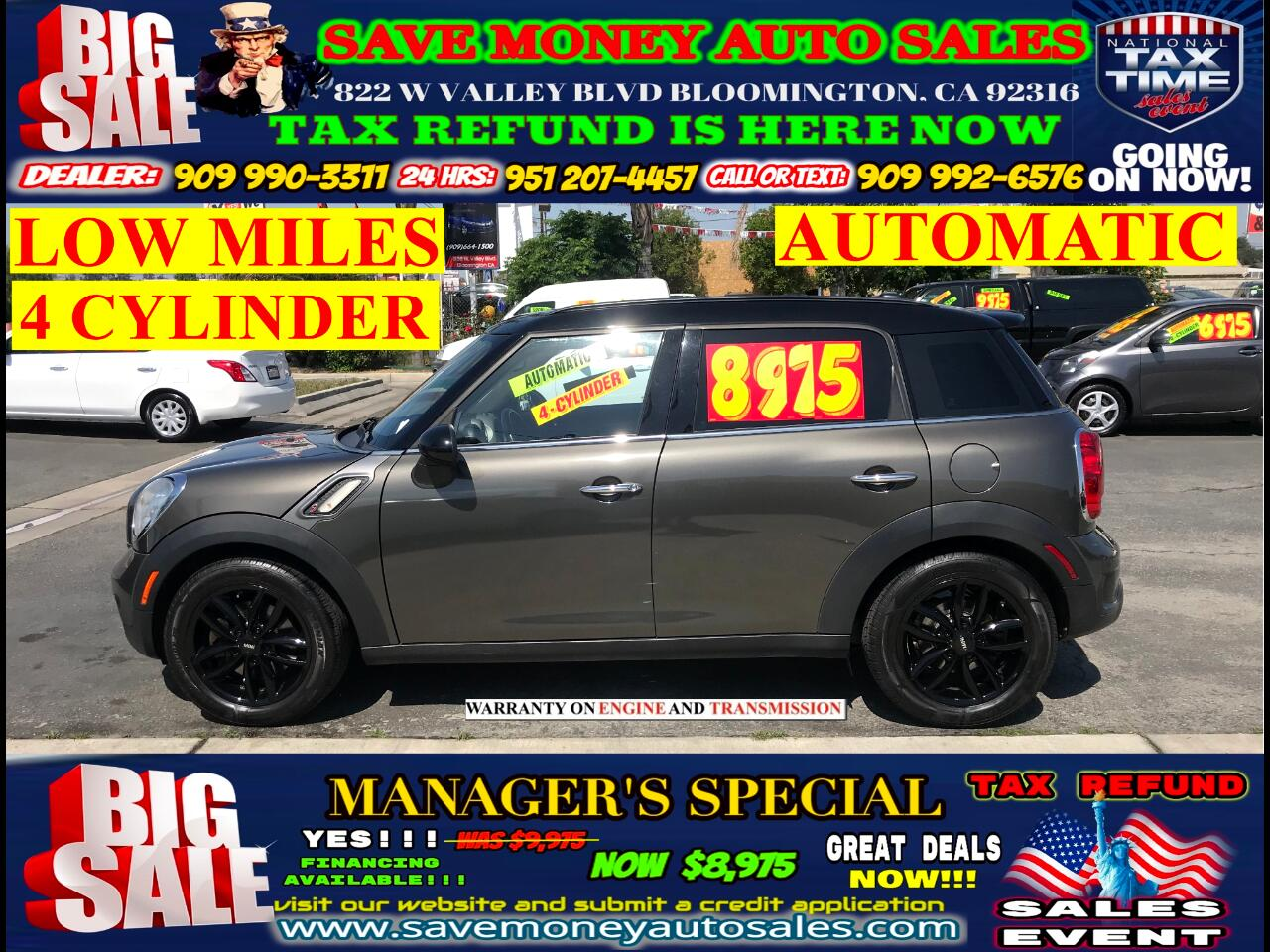 2011 MINI Countryman S> 4-CYLINDER> LOW MILES> EXTRA CLEAN