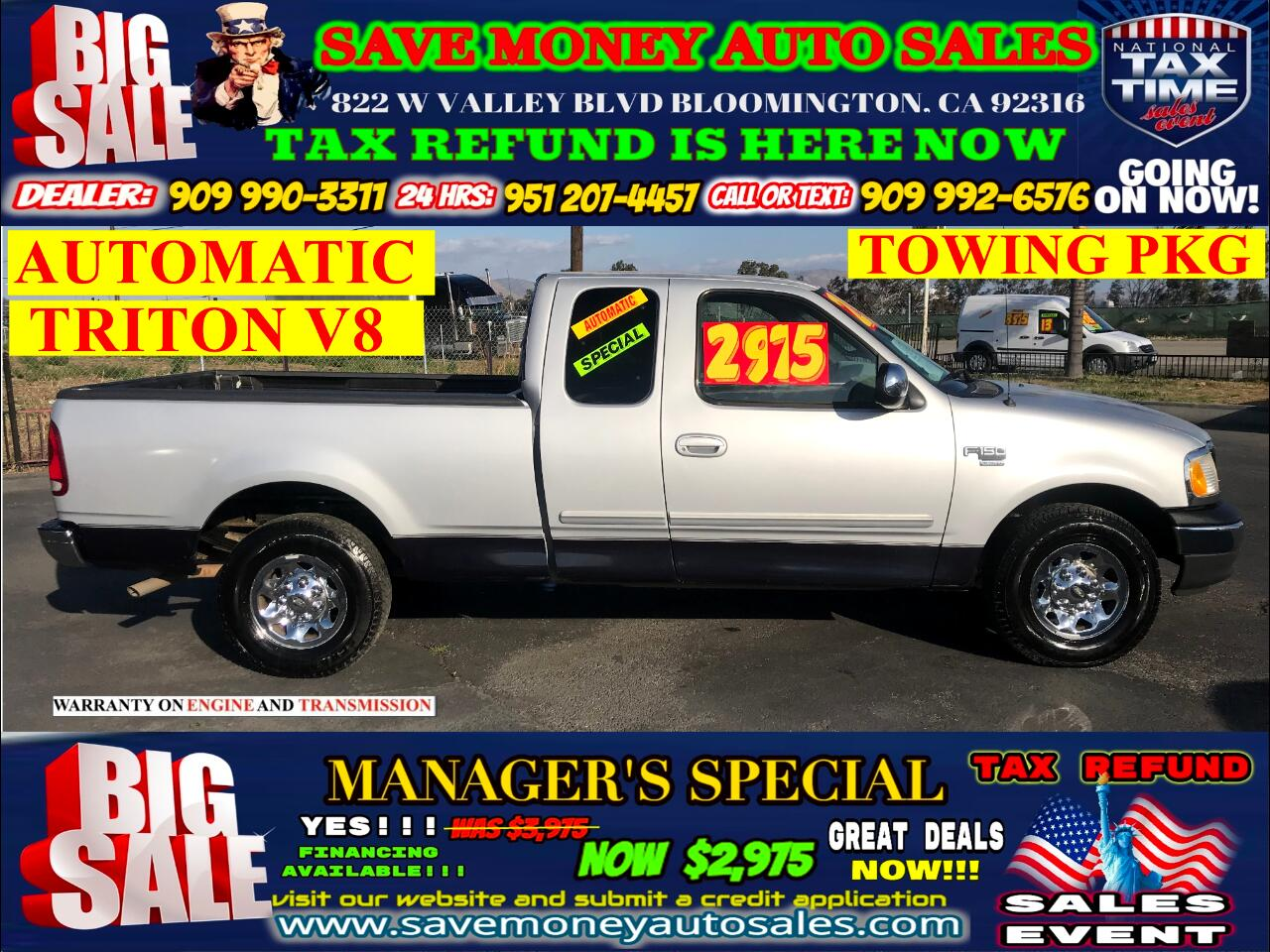 2001 Ford F-150 XLT>V8> AUTOMATIC> TOWING PKG INCLUDED