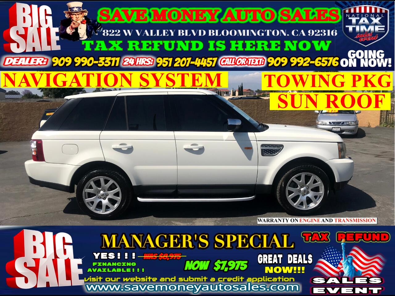 2007 Land Rover Range Rover Sport HSE> FULLY LOADED> AUTOMATIC> EXTRA CLEAN