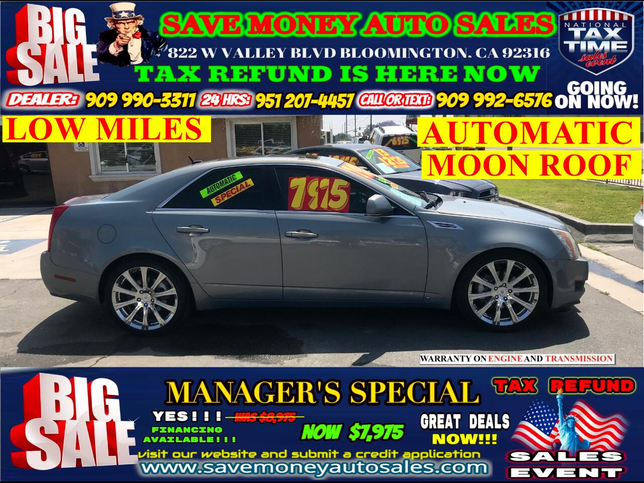2008 Cadillac CTS 3.6L SFI>AUTOMATIC> LOW MILES> MOON ROOF