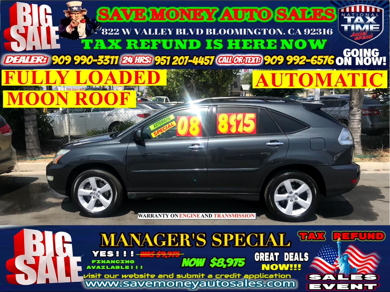 2008 Lexus RX 350 AUTOMATIC> FULLY LOADED> MOON ROOF