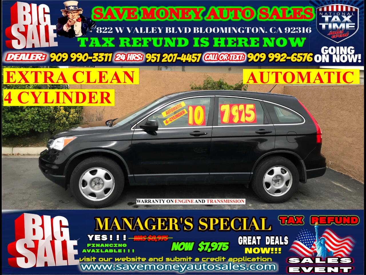 2010 Honda CR-V 4 CYLINDER> EXTRA CLEAN> AUTOMATIC