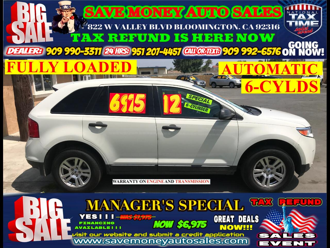 2012 Ford Edge SE FWD> FULLY LOADED> 6 CYLDS> EXTRA CLEAN