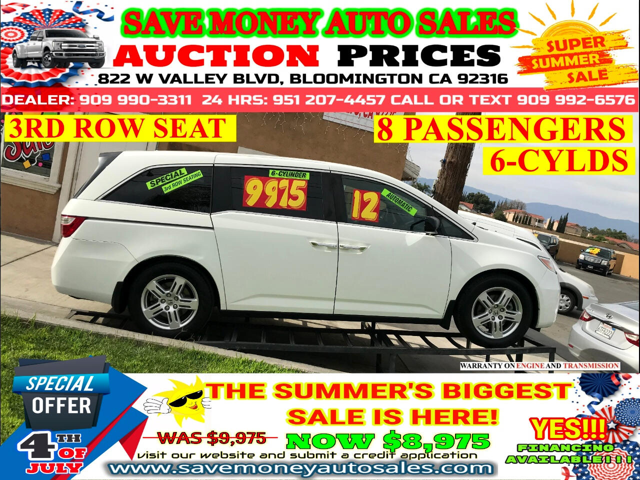 2012 Honda Odyssey 3RD ROW SEATS>8 PASSANGER>ALL LEATHER INTERIOR