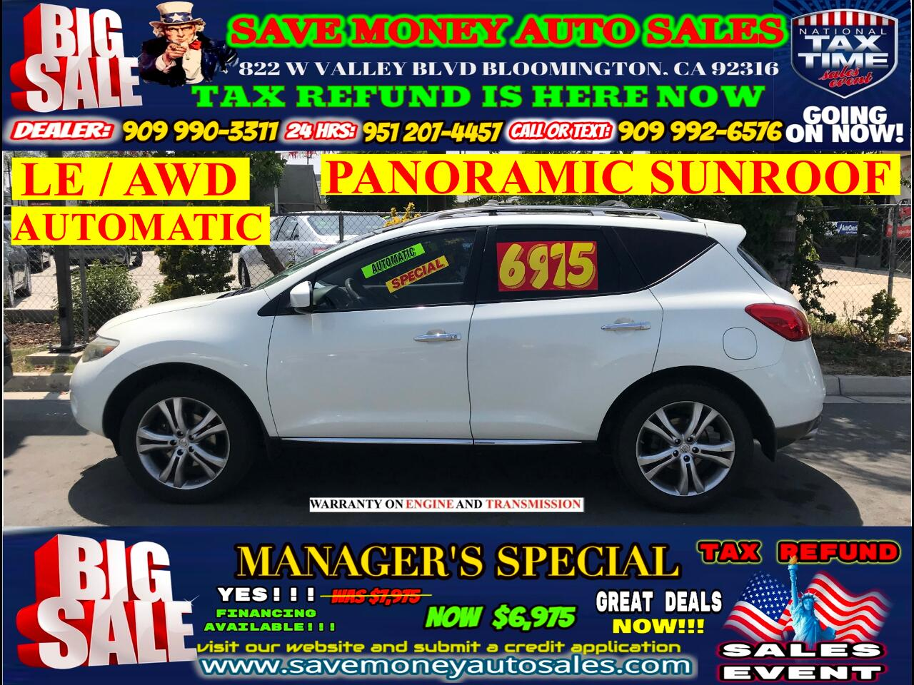 2009 Nissan Murano LE AWD> FULLY LOADED> LEATHER> EXTRA CLEAN